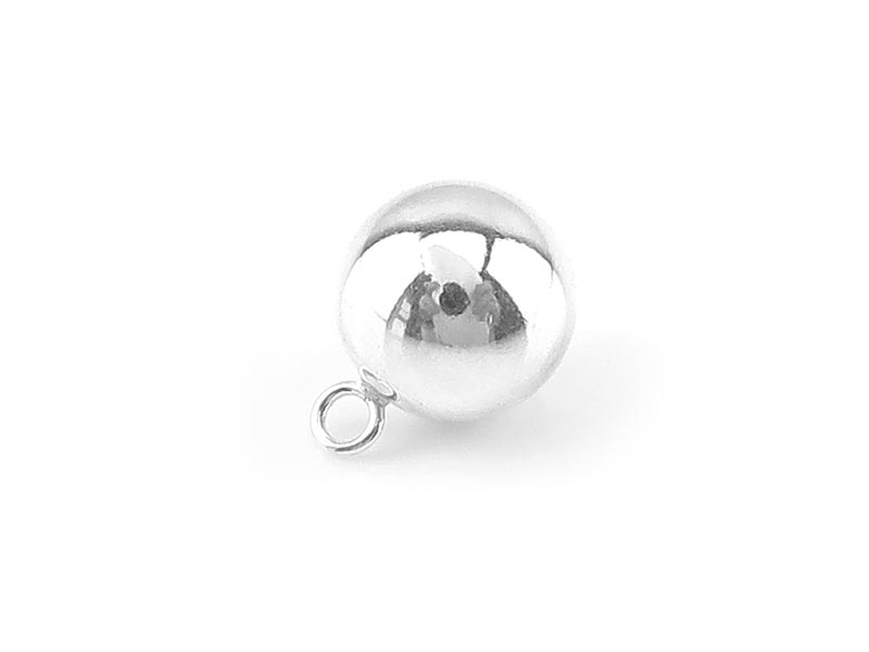 Sterling Silver Ball Charm 8mm