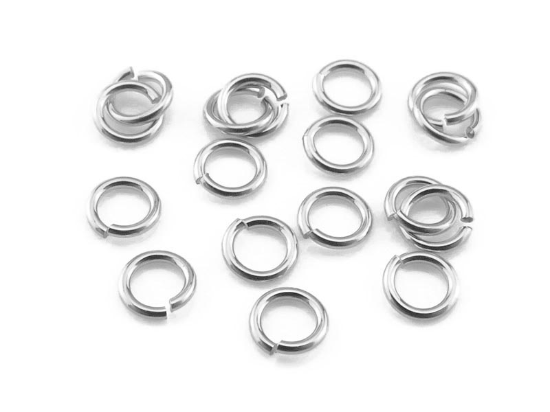 Sterling Silver Open Jump Ring 3mm ~ 24ga ~ Pack of 10