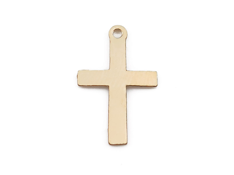 Gold Filled Cross Charm 16mm
