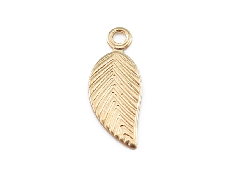 Gold Filled Leaf Charm (Right) 12mm
