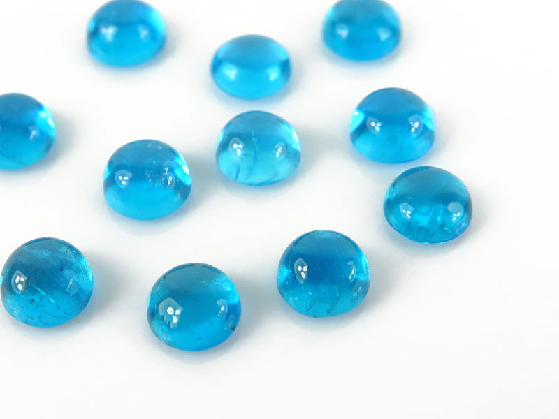 Neon Blue Apatite Round Cabochon ~ Various Sizes