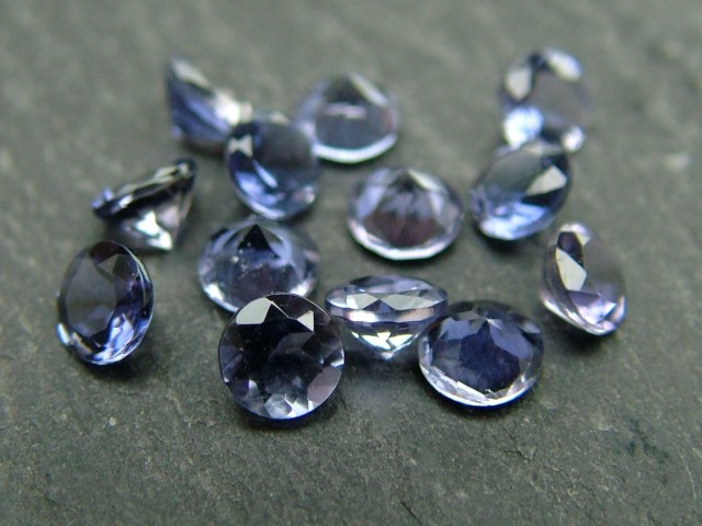 Iolite Faceted Round ~ Various Sizes