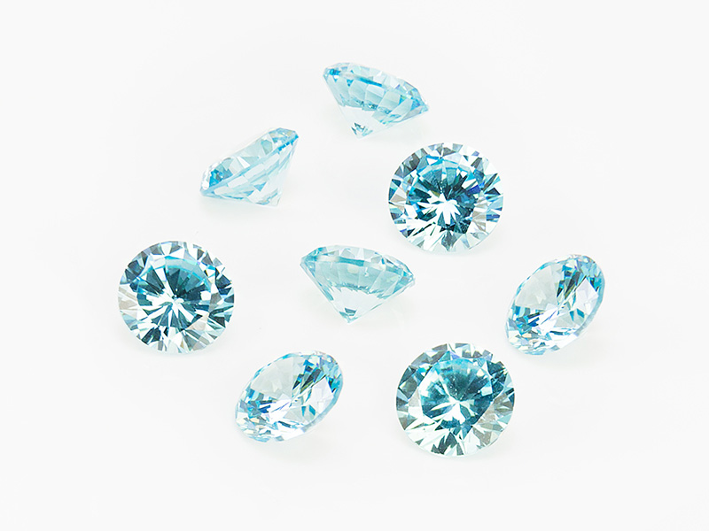 Cubic Zirconia Round ~ Light Blue ~ Various Sizes