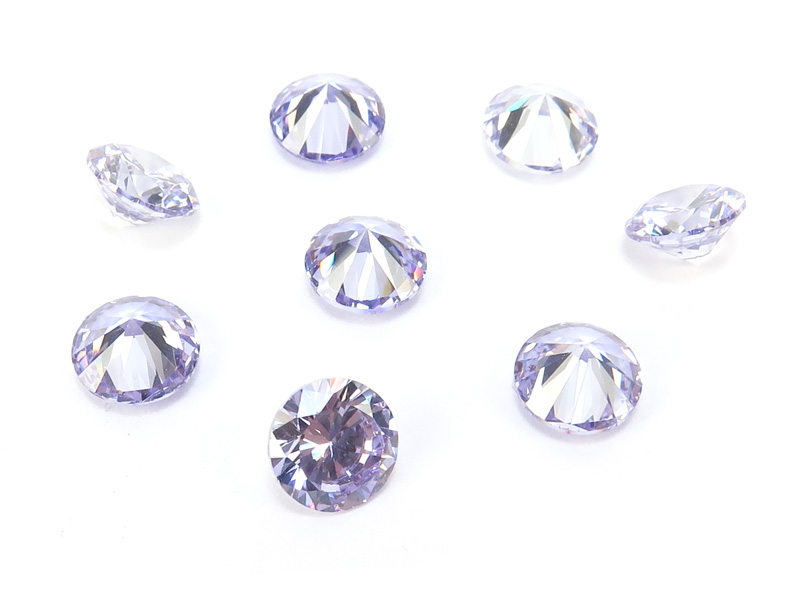Cubic Zirconia Round ~ Lavender ~ Various Sizes