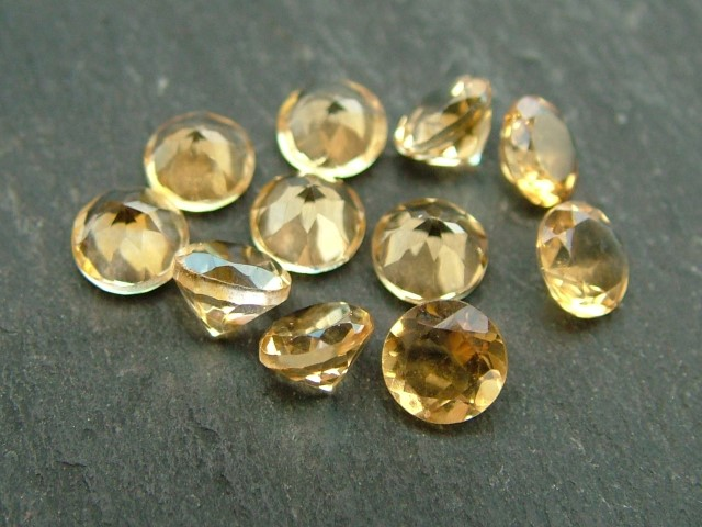 Citrine Faceted Round ~ Various Sizes