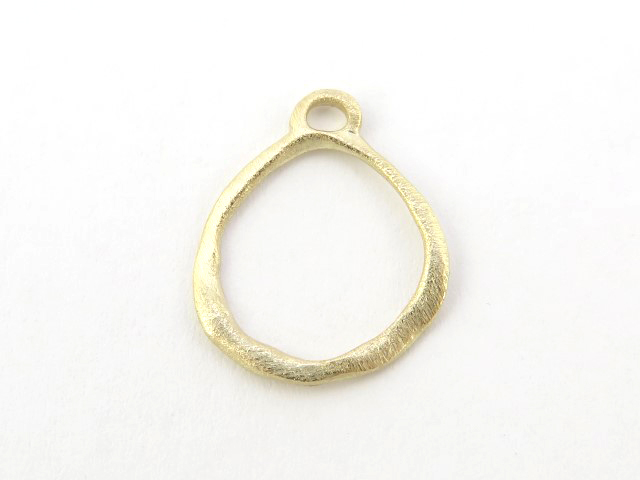 Gold Vermeil Organic Circle Pendant 14mm