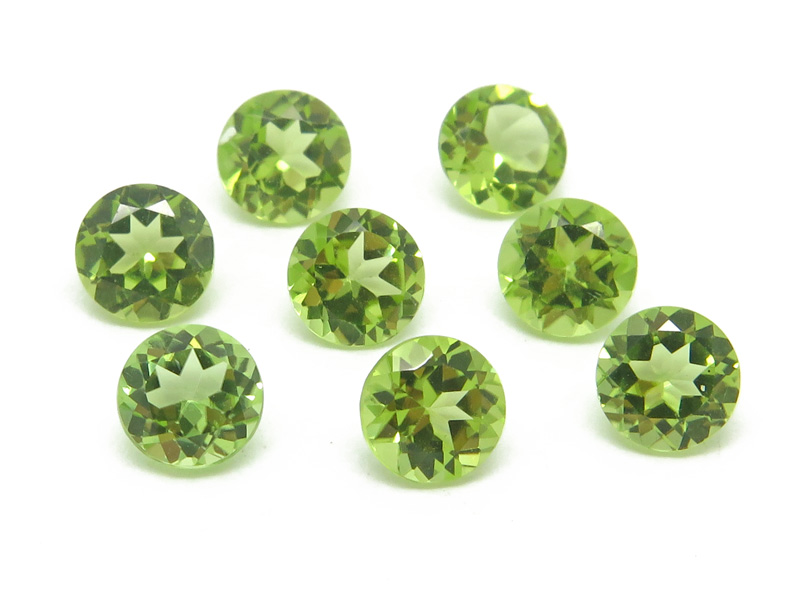 Peridot Faceted Round ~ Various Sizes