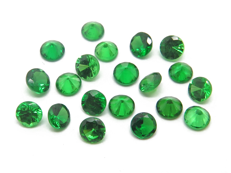 Tsavorite Garnet Faceted Round ~ Various Sizes